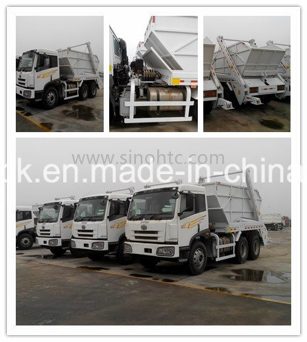 6000L swinging arm garbage truck roll sanitation vehicle pictures & photos