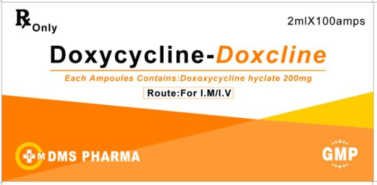 Doxycycline Hyclate Anitbiotic Medicine and Ascorbic Acid 200mg/2ml