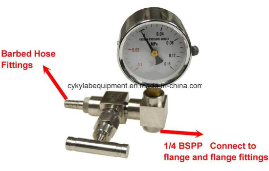 Customized Gauge Valves with Ss Needle Valve/Barbed Hose Fitting and Mechanical Gauge pictures & photos