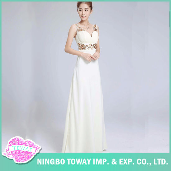 a5a4dbe02ea China Summer Party White Sequin Sexy Long Dresses for Women - China ...