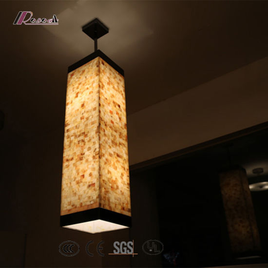 china industrial natural shell pendant lighting with metal part