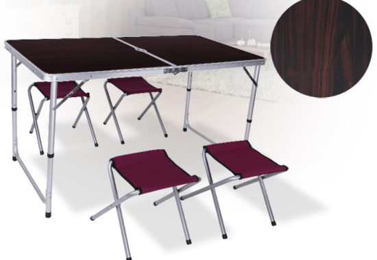 Camping Folding Table with Free Four Chairs. pictures & photos