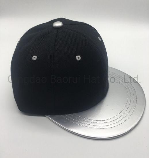 6 Panel acrylic and PU Visor Blank Snapback Caps