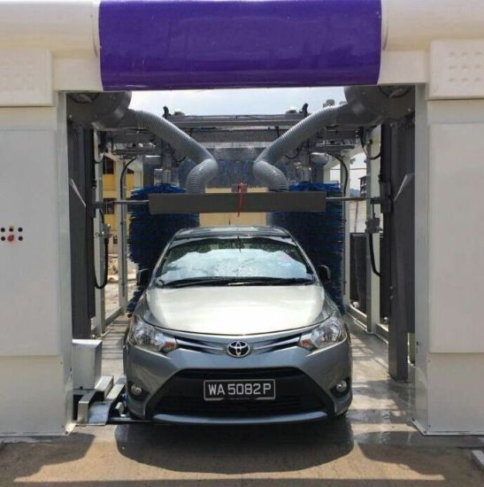 China 9 Brushes Iran Automatic Tunnel Car Washing Machine Washer