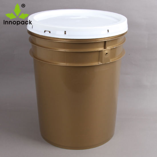 High Quality Printed 20L Plastic Paint Pail with Lid