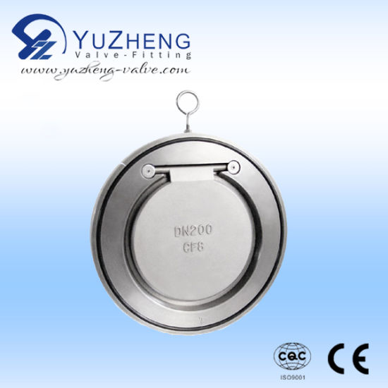 Stainless Steel 2PC Vertical Check Valve Manufacturer pictures & photos