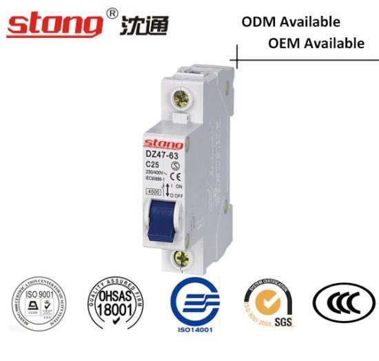 Mini Vacuum Circuit Breaker Dz47 63 Lighting Loop Protection