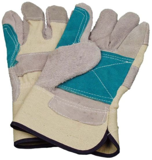 Competitive Working Leather Gloves with CE Approval Sq003 pictures & photos