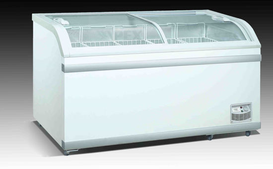 China Commercial Glass Sliding Lid Chest Freezers China Chest