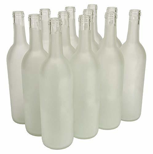North Mountain Supply 750ml Glass Bordeaux Wine Bottle Flat-Bottomed Cork Finish
