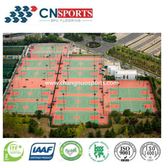 Outdoor Gym Floor, Spu Sport Court Rubber Elastic Flooring pictures & photos