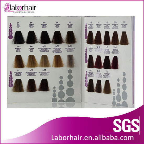 China Professional Hair Color Chart Printing Strip Shape - China ...