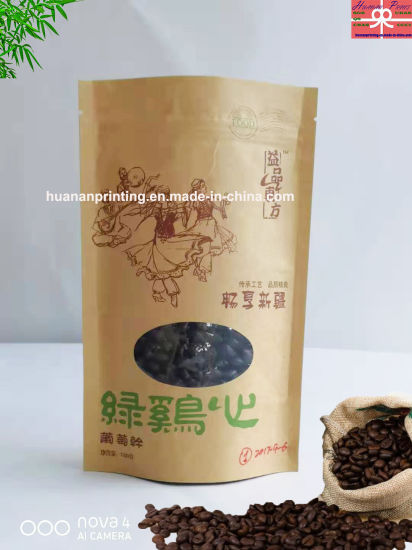 Kraft Paper Pouch with Window Special Shape.