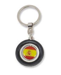 Rubber Tire Spinner Epoxy Metal Key Holder for Gift (STR203)