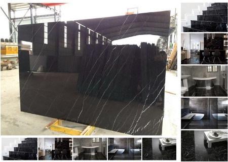 Black Nero Marquina Marble for Floor/Tile/Stair/Wall/Countertop/Vanity/Kitchen/Bathroom/Sink