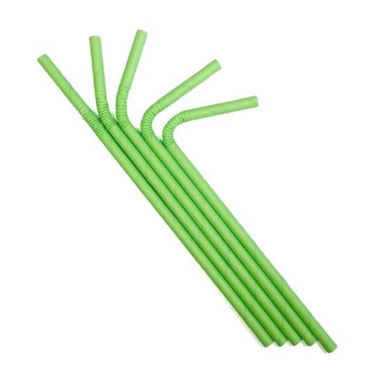 Wholesale Eco Biodegradable Disposable U Shape Bubble Tea Paper Straws