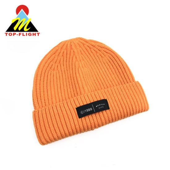 Factory Unisex Custom Acrylic Winter Knitted Watch Hat Beanie Cap