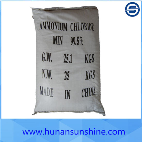 Ammonium Chloride for Dry Battery Factory with 25kg/Bag pictures & photos