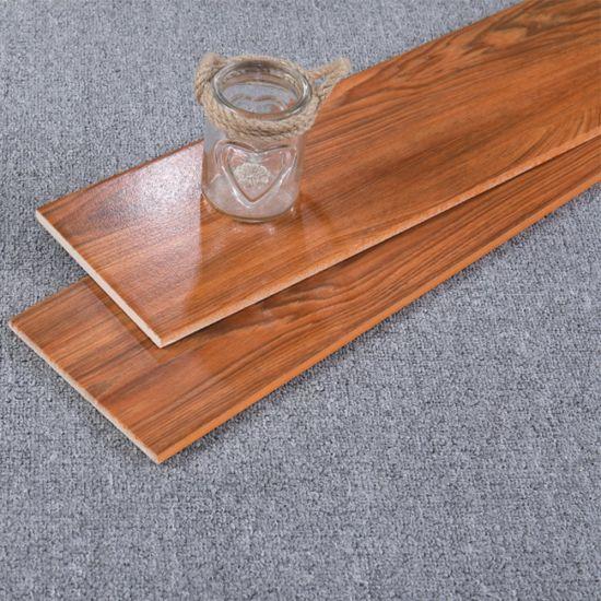 Popular in Netherlands Commercial Use Dark Wood Porcelain Tile