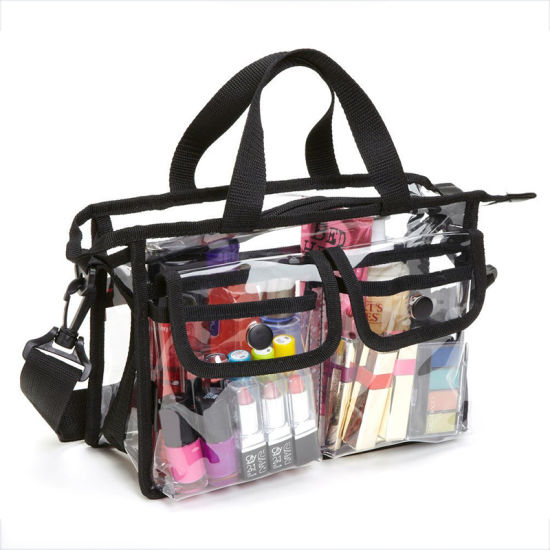 Fashion Transparent Cosmetic Waterproof Tote Summer Travel Beach Swimming Bag