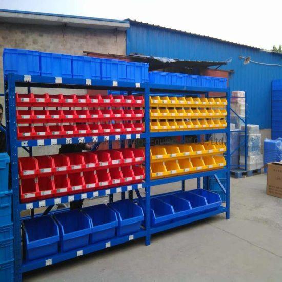 Warehouse Storage Medium Duty Long Span Metal Racking with Plastic Bin