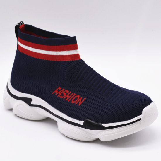 High-Top EVA Travel Sports Warm Fashion Knit Lightweight Casual Shoes