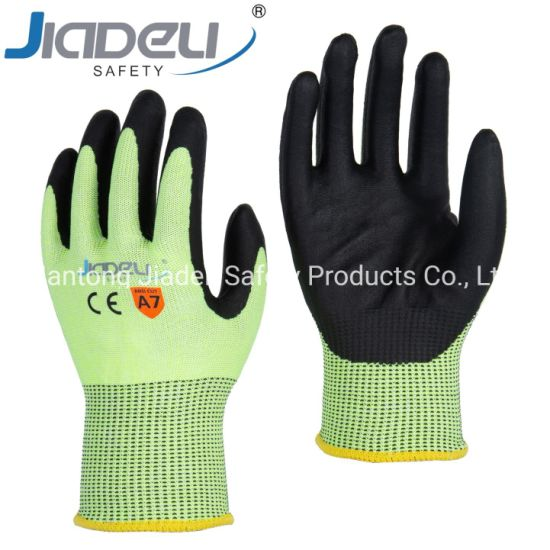BSCI Certified Manufacturer Custom Logo Personal Hands Safety Cut Resistant Level F Work Glove with ANSI Cut Level A7