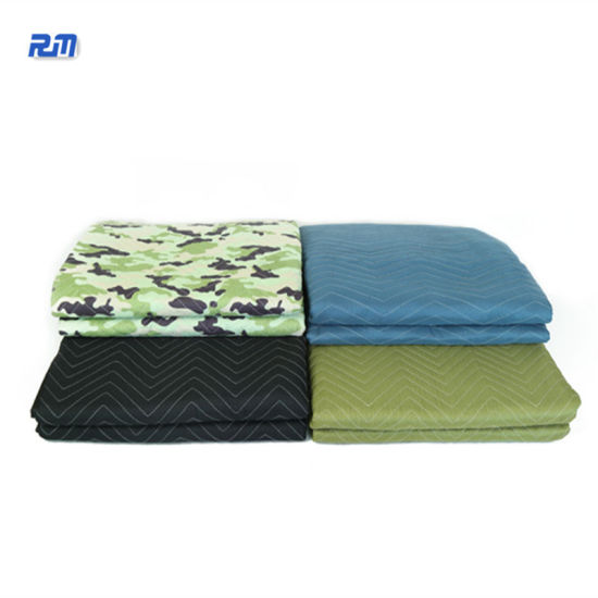 Wholesale Furniture Protection Moving Non Woven Blanket Folding Moving Picnic Pads