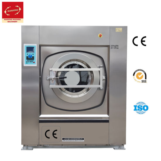 100kg Fully Automatic Customized Stainless Steel Commercial Washer Extractor of Laundry Equipment for Hotel/Hospital/School (SXT)