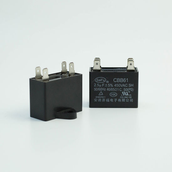 Black Metallized Polypropylene Running Capacitor 250VAC 12UF CBB61 50//60Hz