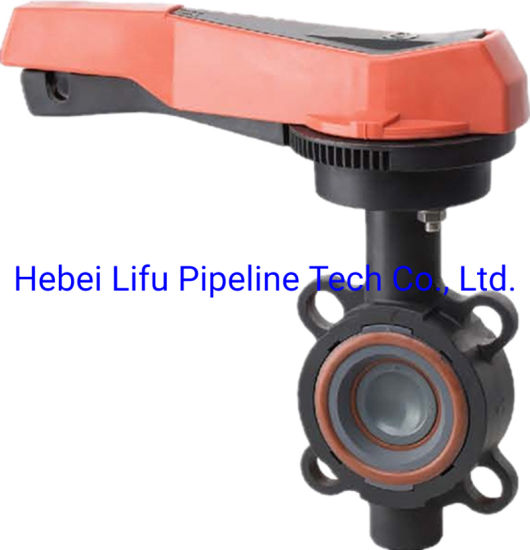 High Quality Plastic Lug Type Butterfly Valve UPVC Butterfly Valve PVC Lug Wafer Butterfly Valve Level for Industry DIN ASTM JIS Standard