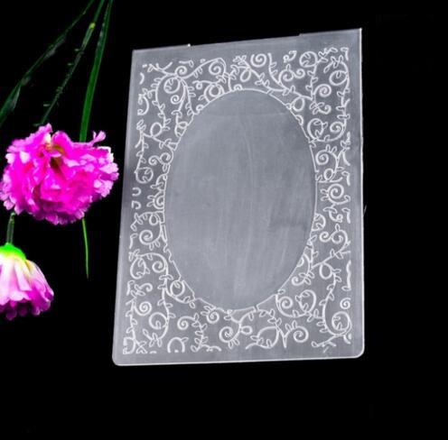 Plastic Embossing Folder Template for Scrapbook