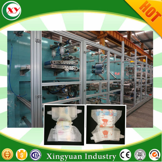 Full Servo Elastic Waistband Baby Diaper Machine