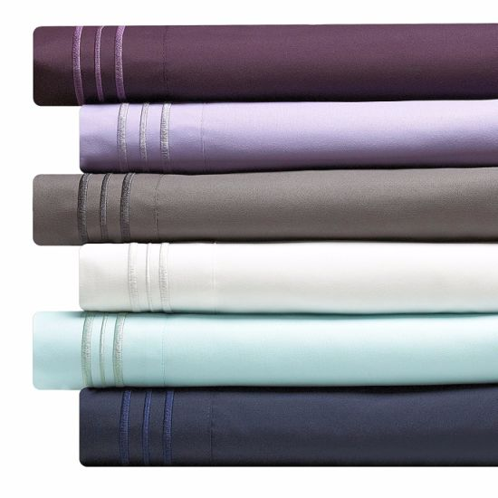 Deep Pocket 1500 Thread Count Series Microfiber Bed Sheet pictures & photos