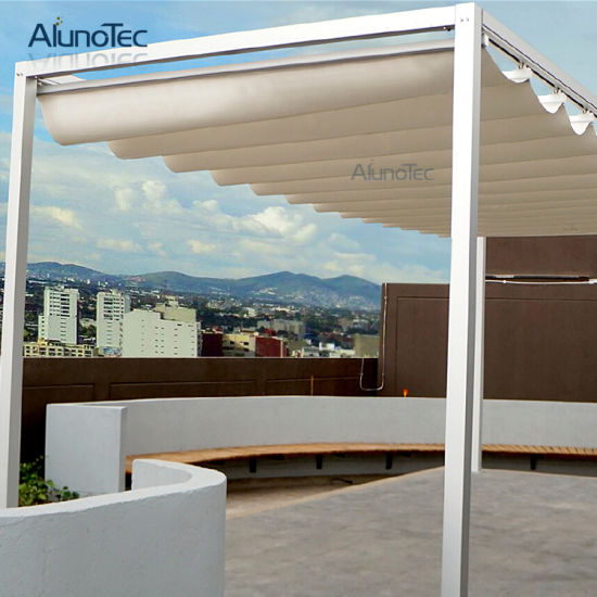 Waterproof Retractable Roof Awnings With Aluminum Posts