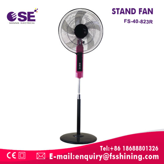 4 Speed Adjust Height 16inch Stand Fan with Remote Control (FS-40-823R)
