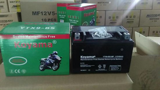 High Quality AGM Motorcycle Battery Ytx9-Bs-12V8ah pictures & photos