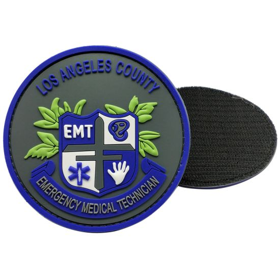 Manufacturer Custom Fashion Personalized Jean Garment Accessories Soft PVC Rubber Patches Velcro with Any Design