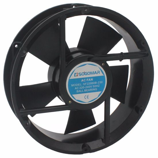 220X220X60mm Large Flow Leadwire Type Exhaust Fan for Welding Machine