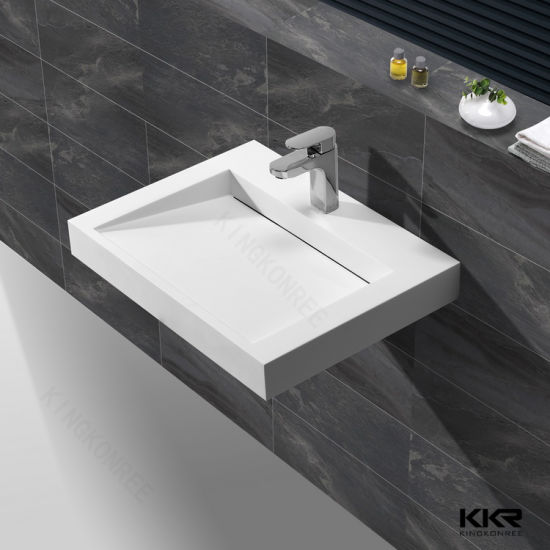 Top Rated In Eu And Us Wall Hung Bathroom Sink Vanity Wash Basin