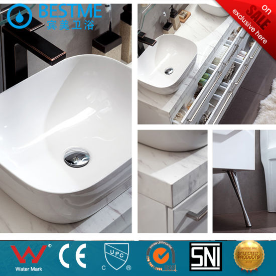 Foshan Manufacture Bathroom Vanities Solid Wood Cabinet with LED Light by-X7091 pictures & photos