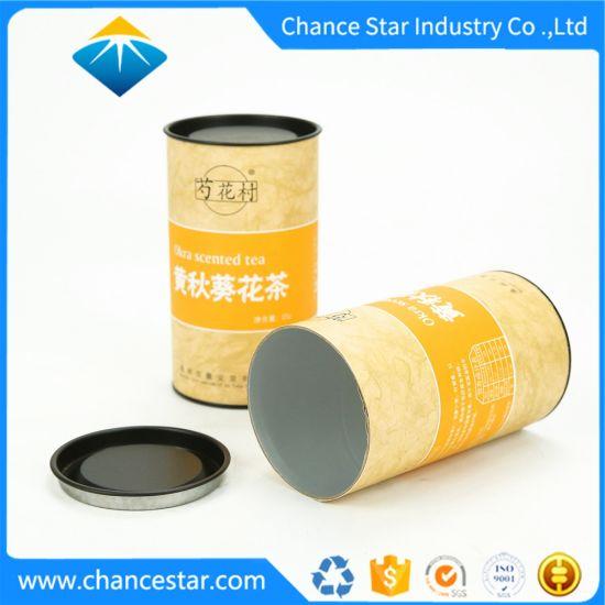Custom Color Printed Cardboard Paper Tube Box for Tea Packaging