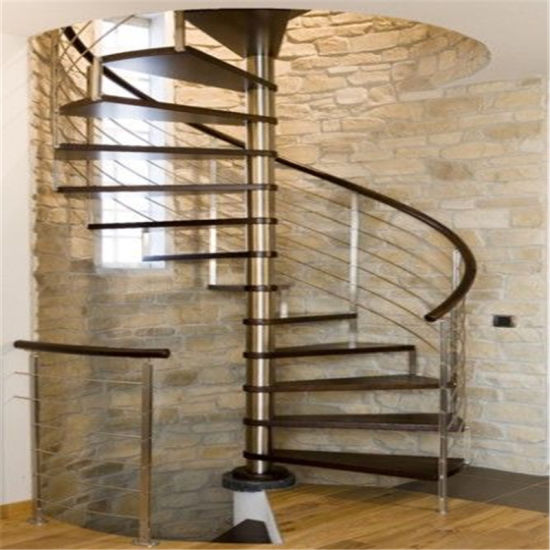 Interior Modern Design Carbon Steel Beam Spiral Staircase For Attic