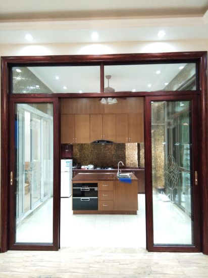 China Door Manufacturer Trackless Glass Sliding Door Interior Door