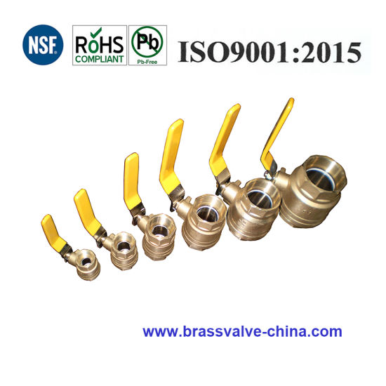 600 Wog Brass or Lead Free Brass Full Port Ball Valve, NPT Thread pictures & photos