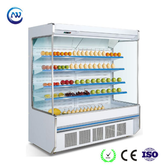Fan Cooling Upright Chiller with Wind Curtain for Hypermarket (HG-15) pictures & photos