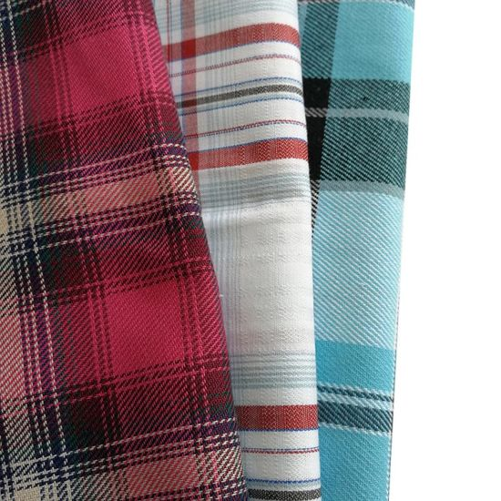 Tartan Plaid 100% Cotton Yarn Dyed Brushed Flannel Breathable Fabric