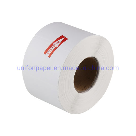 China Manufacturer Adhesive Thermal Blank Label Paper Roll for Barcode