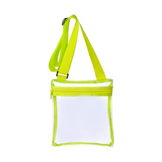 Adjustable See-Thru Stadium Approved Transparent Purse Clear Messenger Bag