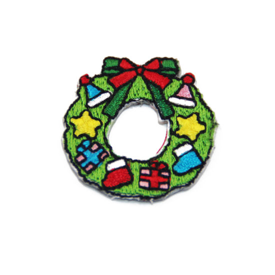 High Quality Custom Twill Christmas Series Embroidery Patch